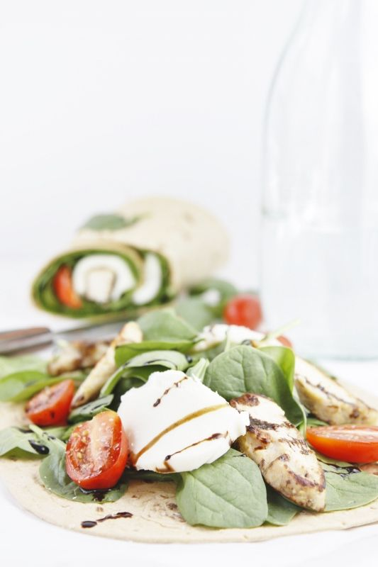 Grilled Chicken Caprese Wraps...can't wait for the garden to take off so I can make these!!