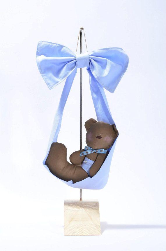 Fiocco Nascita Orsetto / Teddy Bear birth rosette di EffeCremona su Etsy