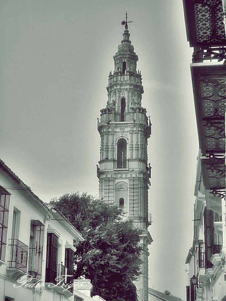 Torre de la desaparecida iglesia de la Victoria. Antiguo convento de padres mínimos. Estepa (Sevilla).