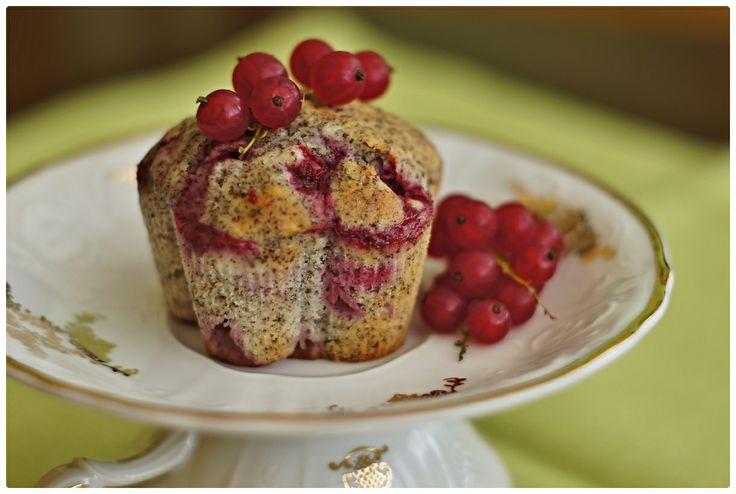 Rybízovo-makové muffiny od Pradobroty
