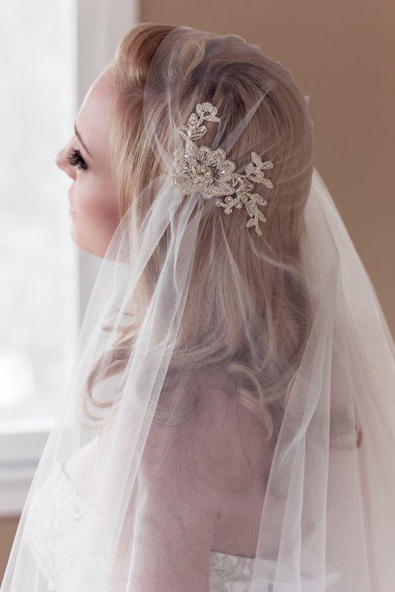 A romantic veil with Alencon lace.