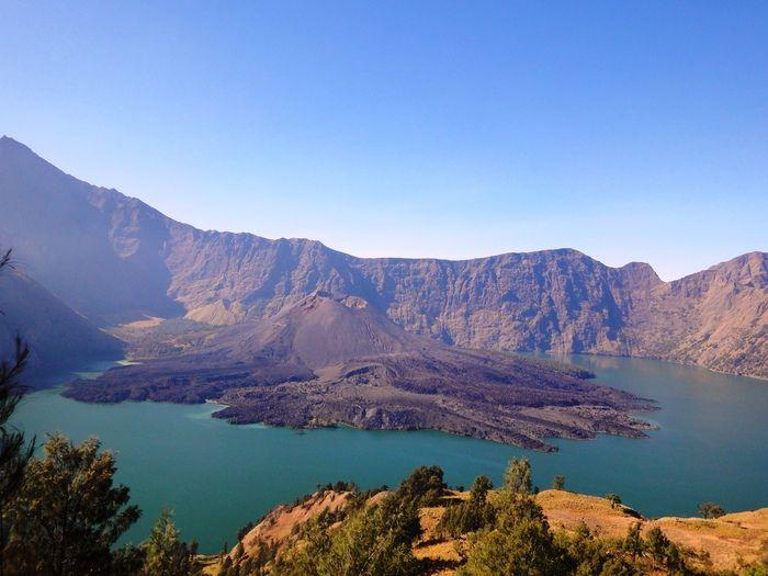 Segara Anak Lake, taken from Senaru crater rim. Photo by Rini Raharjanti