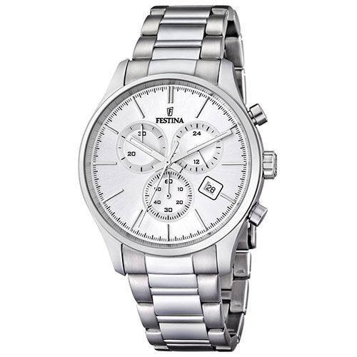 [VIVARAMOB]Relógio Festina Masculino Aço - F16578/1 - R$295,00 - 5x Sem Juros