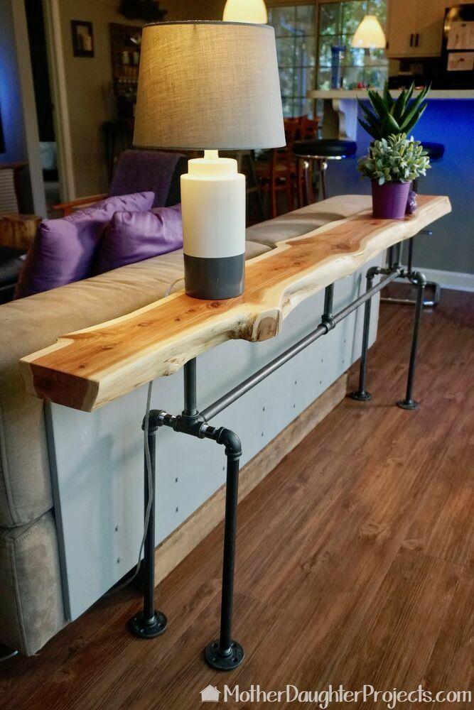 17 Natural Live Edge Wood Projects That Add Character Wood Sofa