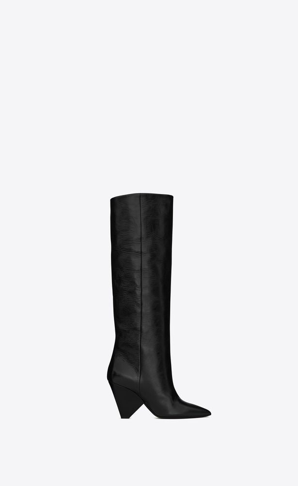 16c3a30d5a SAINT LAURENT Niki Woman NIKI 85 boot in black moroder leather a_V4 ...