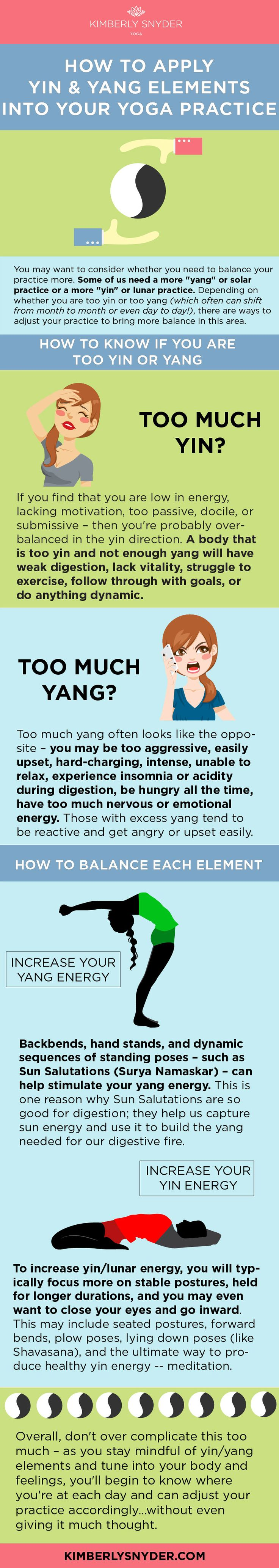 How to balance yin and yang with yoga. This is so interesting!