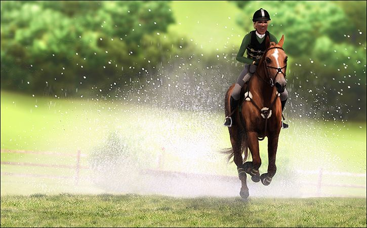 pigeonitus:  The little engine that could, would, and was! Fleur Rouge CN in her debut with rider Georgia Cleary taking the reins and riding home through the water The Broudein Stud are taking hold of 2015 with both hands !   Amazing picture Paige! Fleur seems to enjoy it a lot!