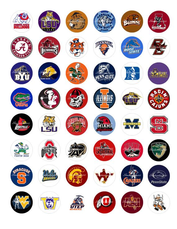 College Football Logos Printable Digital Collage by shadowdancer2, $3.00 http://collegefootballbettinglinesnews.blogspot.com.co/