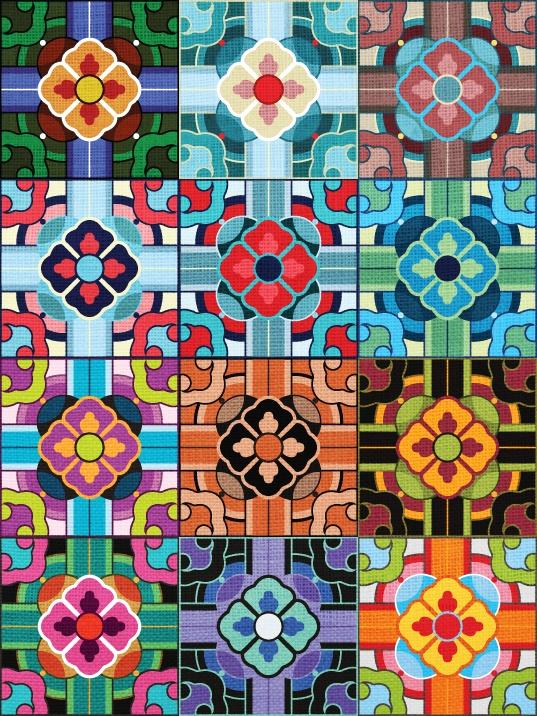 Korean Patterns on linen