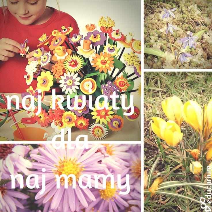 Co mamy od mamy? Czasem trudno to zliczyć, zważyć, czy zmierzyć :) A co mamy dla mamy na Dzień Matki? Nie samodzielnie wyhodowany, ale samodzielnie wykonany kwiat. Łączymy z rozwojem roślin, oglądamy prawdziwe kwiaty o różnorodnych kształtach i robimy nasze własne: odwzorowujące prawdziwe gatunki albo zupełnie baśniowe i kreatywne. Oto nasze inspiracje prezentowe manualno-edukacyjno-emocjonalne :)