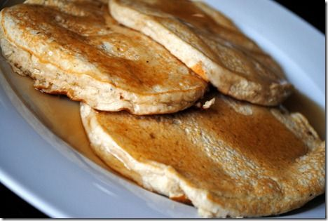 Vanilla Banana Protein Pancakes??  Oh holy yum.  Definitely making these this weekend!
