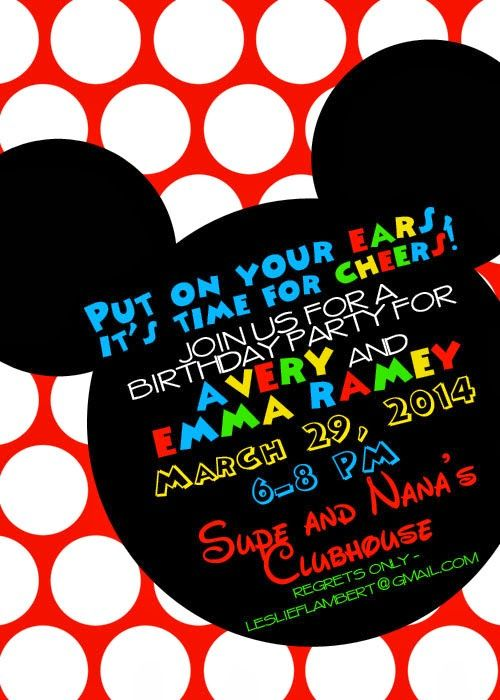 17 Best ideas about Mickey Mouse Clubhouse Invitations on – Mickey Mouse Clubhouse Birthday Invites
