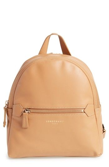 LONGCHAMP 2.0 SMALL LEATHER BACKPACK - BEIGE. #longchamp #bags #leather #backpacks #