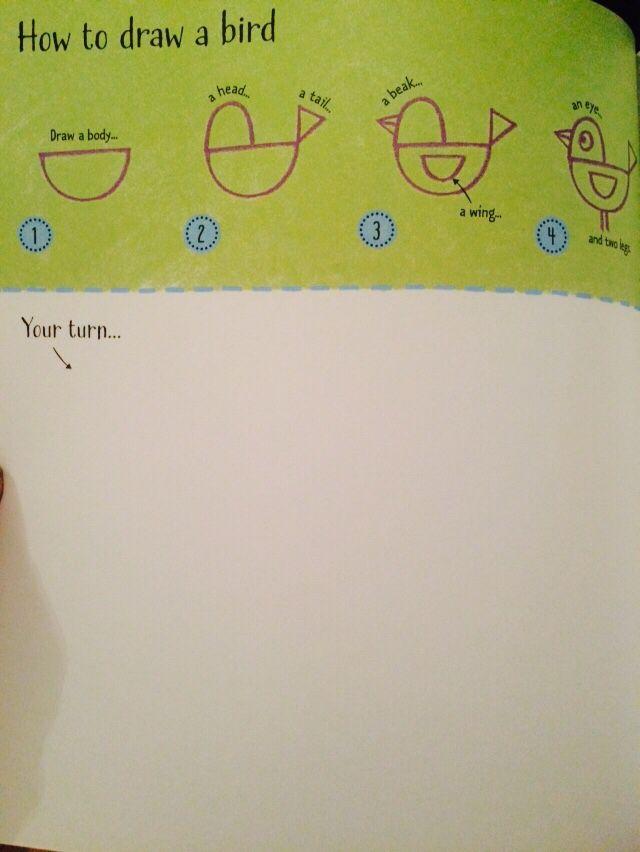 How to draw a bird  #raisasbooks