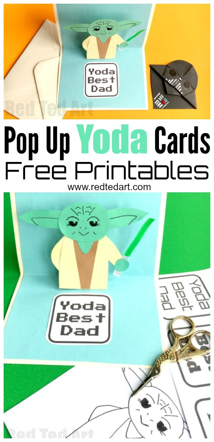 Pop Up Father's Day Card - Yoda Best Dad - fabulous and easy 3D Fathers Day ...