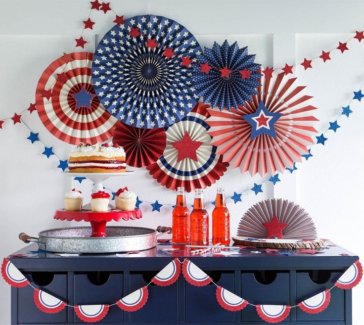Stars and Stripes Party Pinwheels | Baby B | July birthday ...