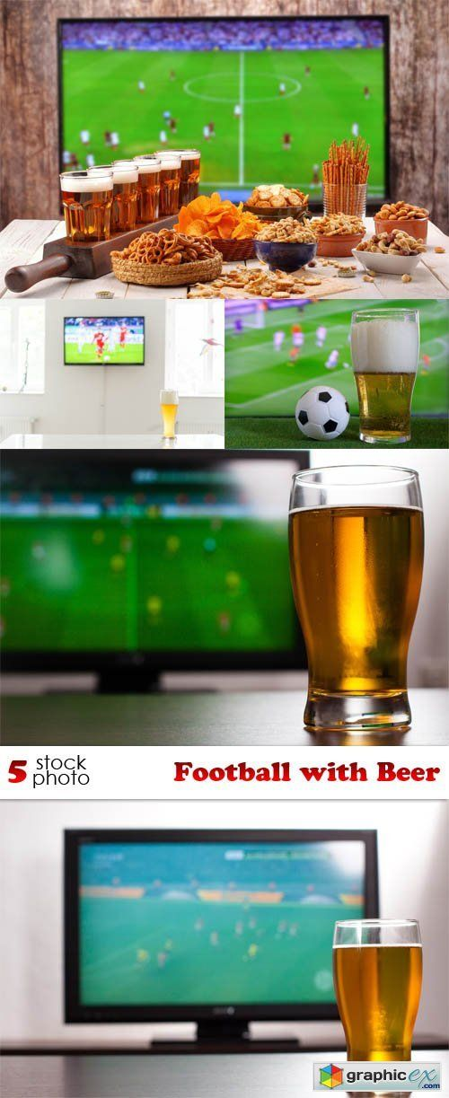 Football with Beer  stock images