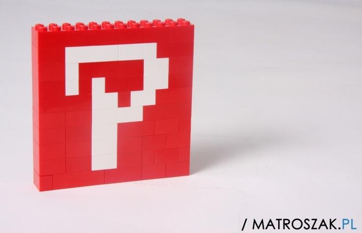 #Pinterest made of #LEGO Bricks http://www.matroszak.pl/