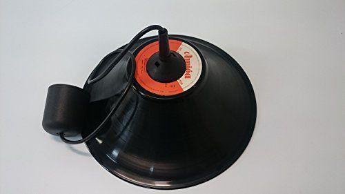 Deckenlampe Lampenschirm hergestellt aus original Vinyl Schallplatte