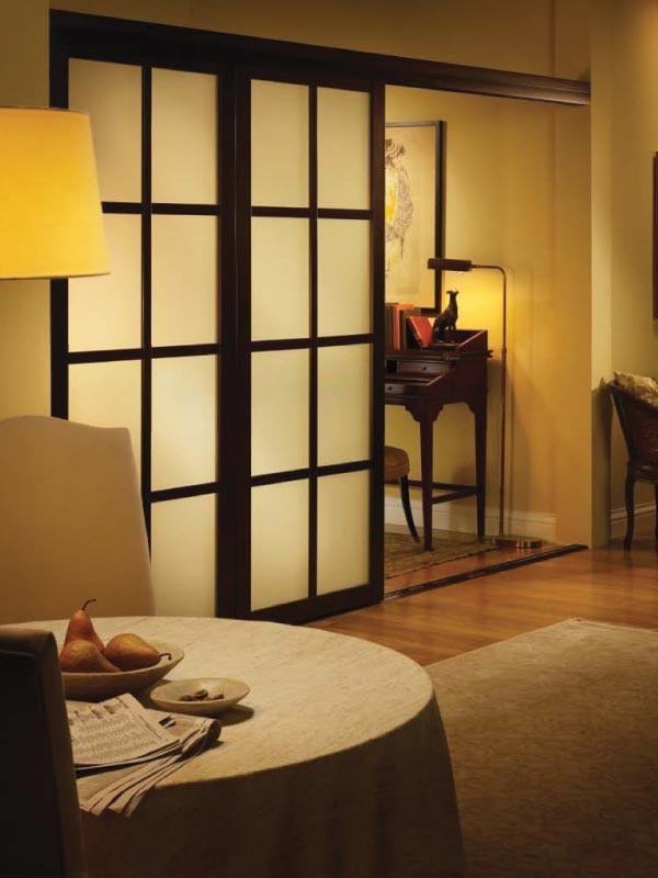 Master bedroom sliding frosted glass doors for bathroom - Bedroom with sliding glass doors ...