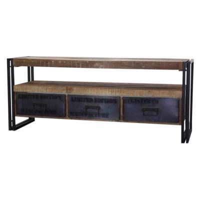 Industrieel Tv meubel 3-laden