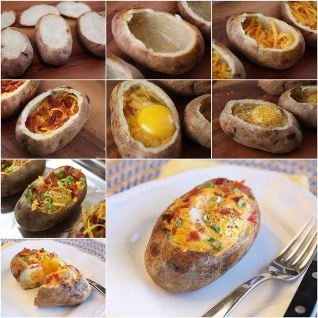 How to DIY Delicious Egg-Stuffed Baked Potatoes | iCreativeIdeas.com Like Us on Facebook ==> https://www.facebook.com/icreativeideas