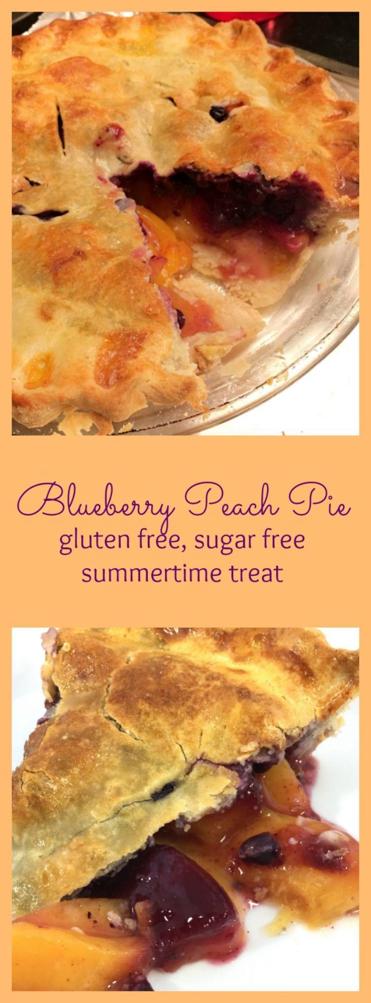 Gluten free, sugar-free summer blueberry, peach pie ...