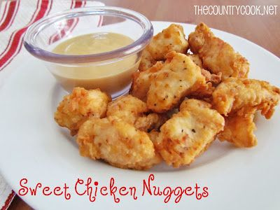 Sweet Chicken Nuggets {Chick-fil-A inspired}