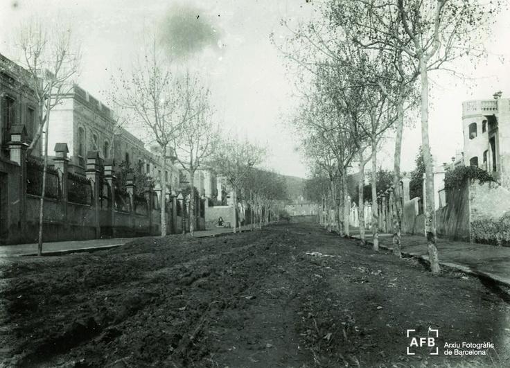 Carrer Campoamor, del barri d'Horta. 1945-60.