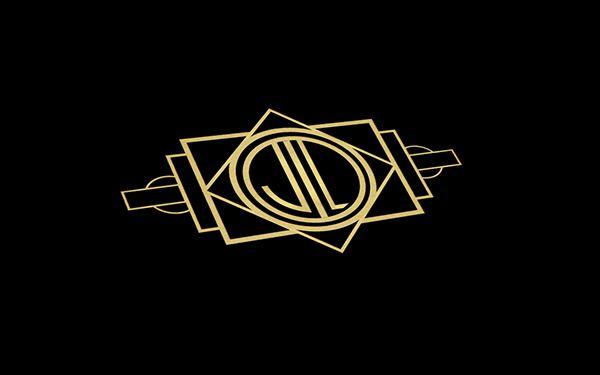 Art deco logo on Behance