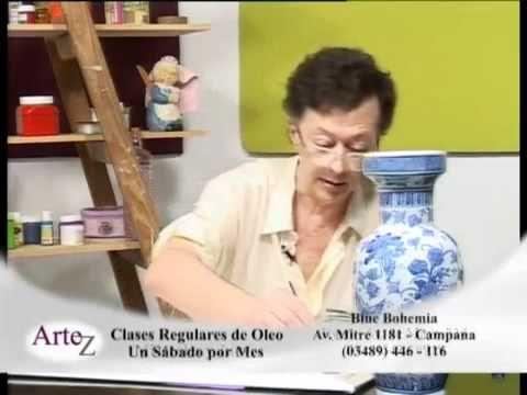Willy Beruti enseña a pintar un jarrón en óleo.mp4