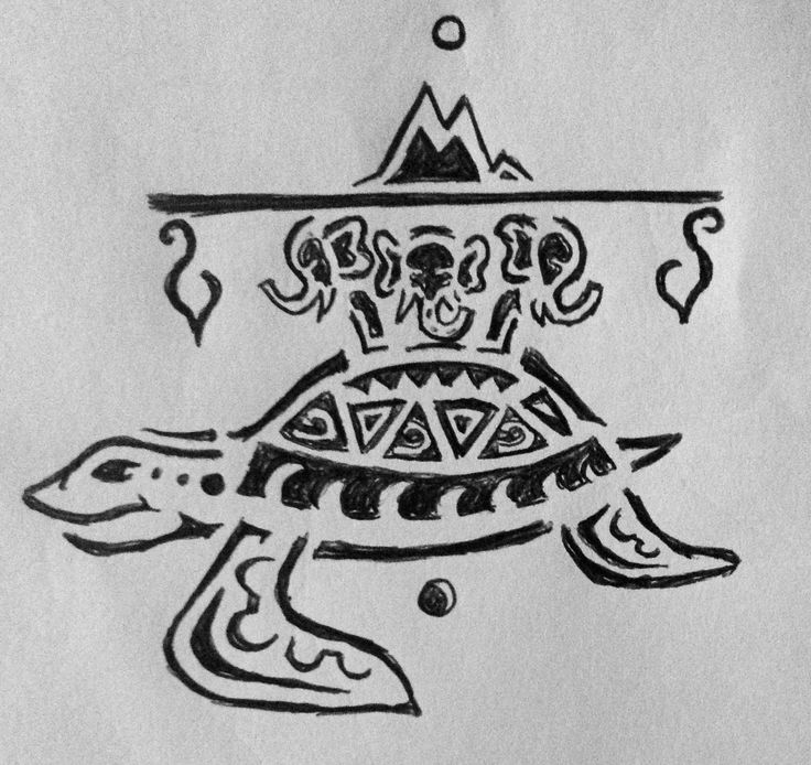Great A'Tuin Discworld Terry Pratchett Fan Art. This was one of my first doodles shortly after the passing of STP