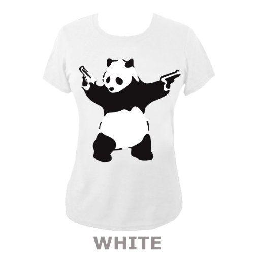 """Banksy"" Panda With Guns' T-shirt"