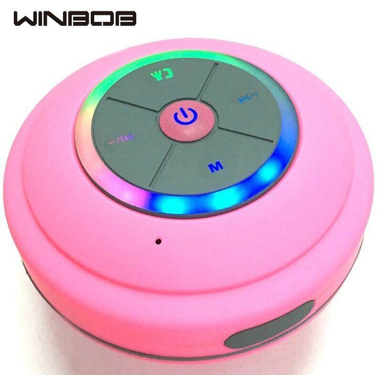 Hot Q9 Dustproof Bathroom Proof Waterproof Wireless Bluetooth Speaker With Led Light Car Shower