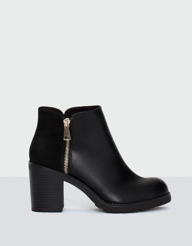 Pull&Bear - femme - chaussures - tout afficher - bottine à talon classic - noir - 11090211-I2016