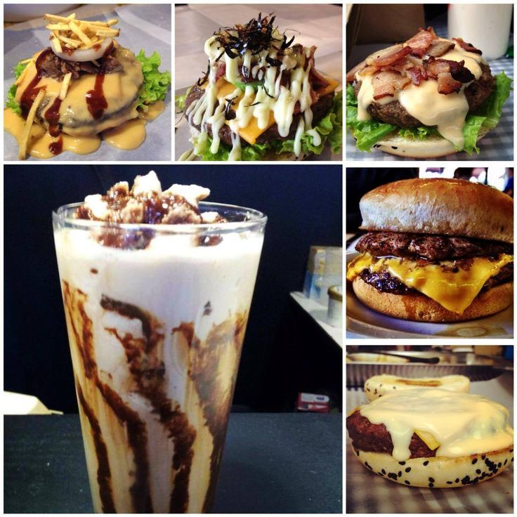 Backyard Burger   Milk Shake + Burger.
