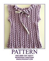 Ravelry: Knit Baby Top VESTY pattern by Barbara Summers