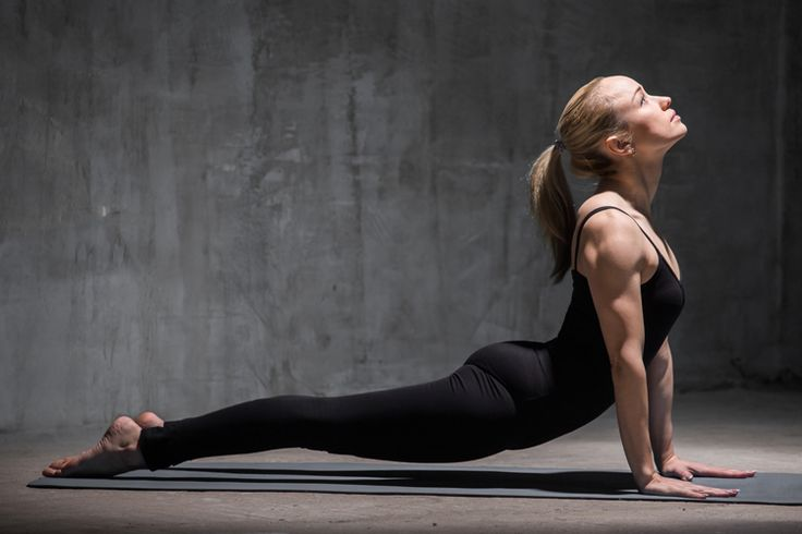 Upward dog, or upward facing dog, is a great pose for engaging your upper body, since your arms, shoulders, and back will all need to work together. It's also a great stretch for your abs and chest.