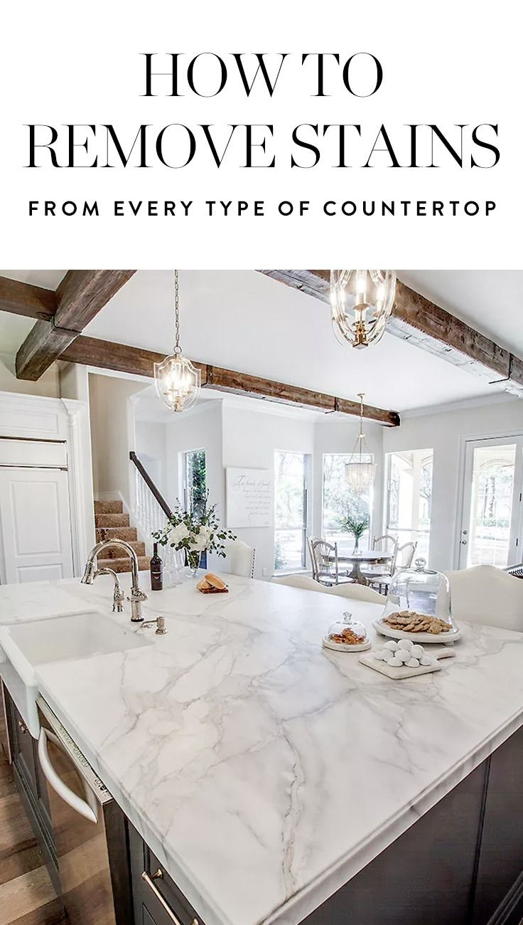 How to remove stains from countertops bathroom - How To Remove Stains From Every Single Type Of Countertop