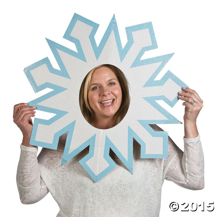 Snowflake Photo Prop. Frozen photo booth.