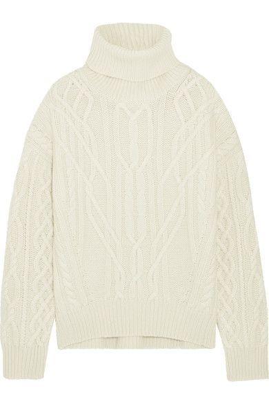 Nili Lotan - Cecil Cable-knit Cashmere Turtleneck Sweater - Cream