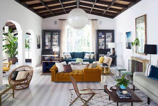 Beni Ourain Rug Nate Berkus California Living Room
