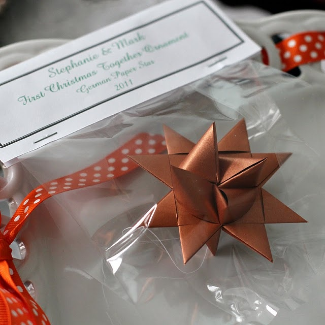 Paper moravian star-- I've been sort of obsessed with making these ever since I learned at Christmas.  You can also stop partway through and have a flat star like the ones they sell in strands at Ten Thousand Villages.