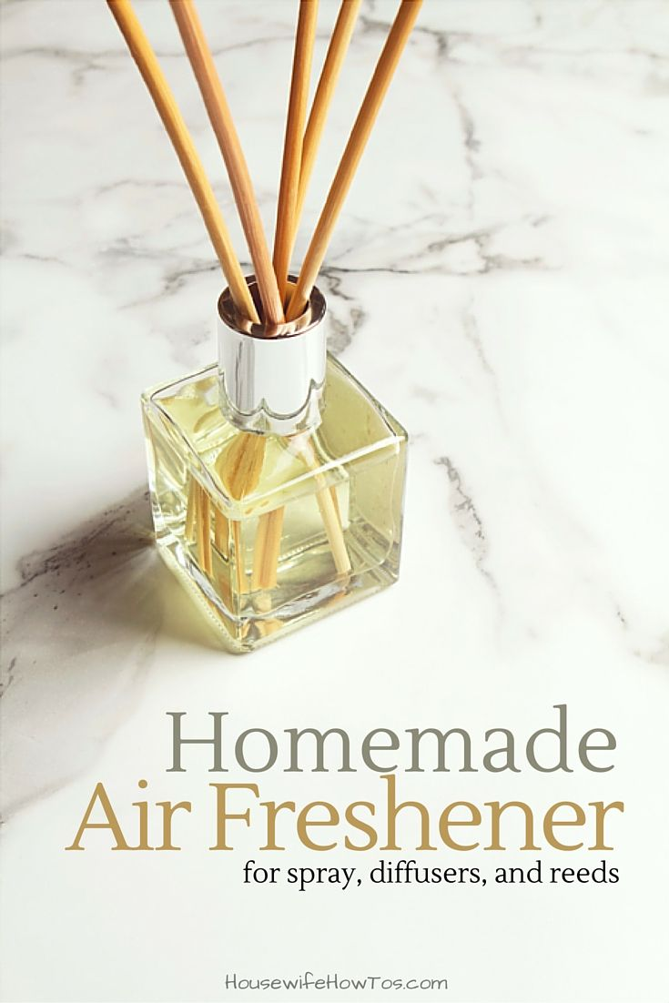 Homemade Air Fresheners - This is so easy to make! I like using some in a spray bottle and some with reeds or a diffuser to add long-lasting, non-toxic fragrance throughout my home.
