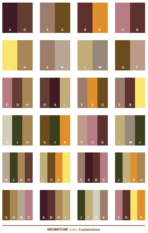 Color Schemes Brown Tone Combinations Palettes For Print Collections Pinterest
