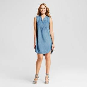 Women's Denim Shirt Dress  - Merona™ Medium Denim