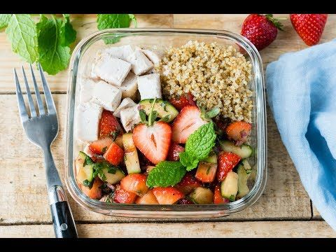 Eat Clean: Roasted Chicken + Strawberry Salsa Bowls | Clean Food Crush