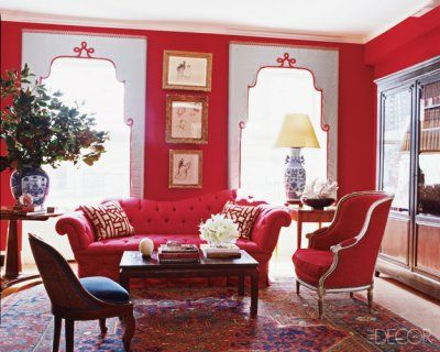 red home decor - Google Search