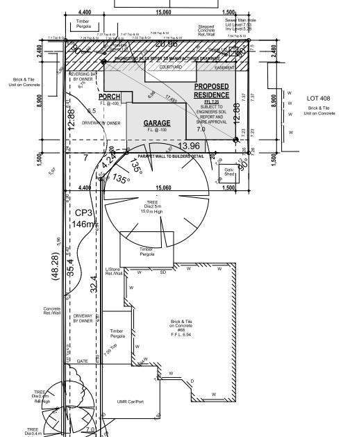 Site plan // 68 Dover Road, Scarborough.