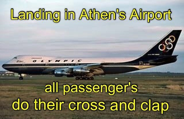 Used to do it in when we landed in London and had a safe flight from Cyprus airways. Now no one does it anymore.